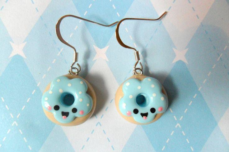 kawaii earrings   Kawaii Jewelry Donut Earrings Cute Polymer Clay Earrings
