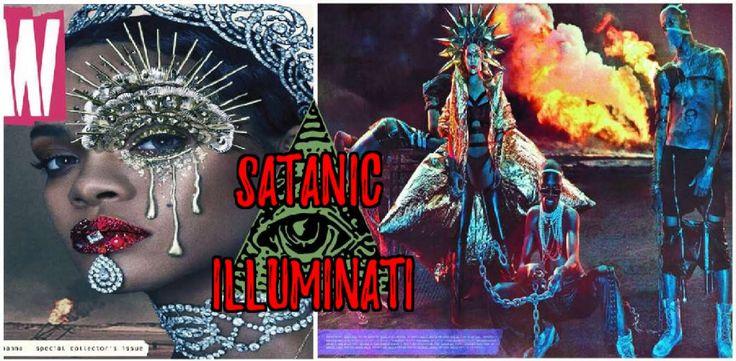 Rihanna's Illuminati Satanic NWO Photo-shoot for W Magazine EXPOSED