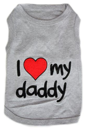 Dog Clothes, Dog Clothing, Dog Apparel rated and reviewed by fellow dog lovers at http://pet.pinptr.com/category/dog-supplies/dog-apparel-accessories/dog-clothes/ Pet Clothes I LOVE MY DADDY Dog T-Shirt - Small | Pet Supplies ♥♥ Reviews & Ratings ♥ ♥ Please repin.