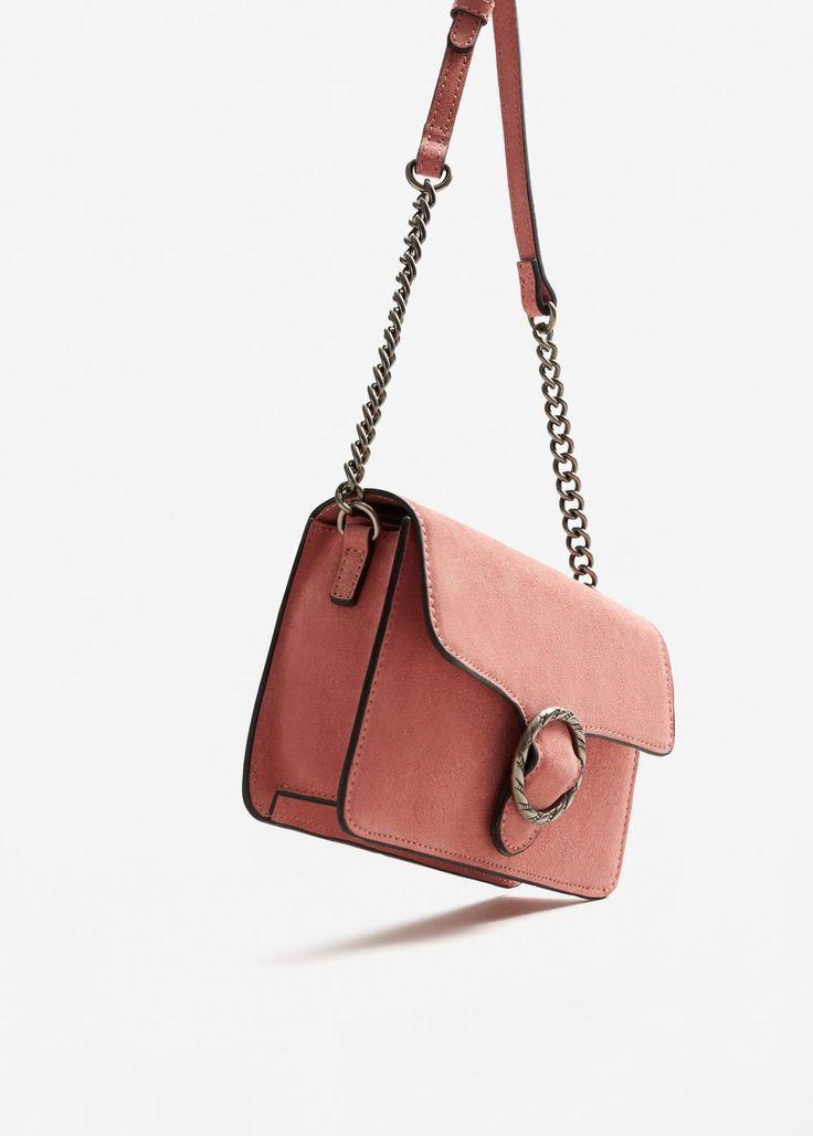 Buckle leather bag - Women   MANGO USA