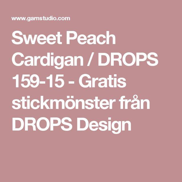 Sweet Peach Cardigan / DROPS 159-15 - Gratis stickmönster från DROPS Design