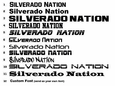 #Silverado nation decal set 2 #stickers chevy 1500 2500 truck crew window #bumper,  View more on the LINK: http://www.zeppy.io/product/gb/2/252260847942/