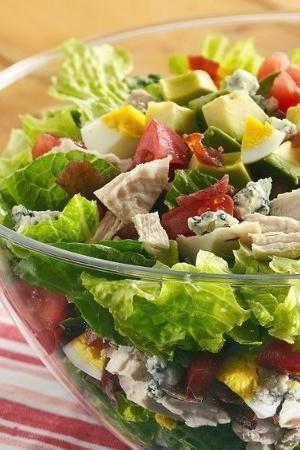 Layered Cobb Salad | Recipe | Cobb Salad, Salads and Sunday Brunch