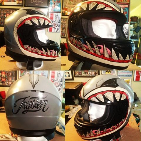 JERT painted helmet