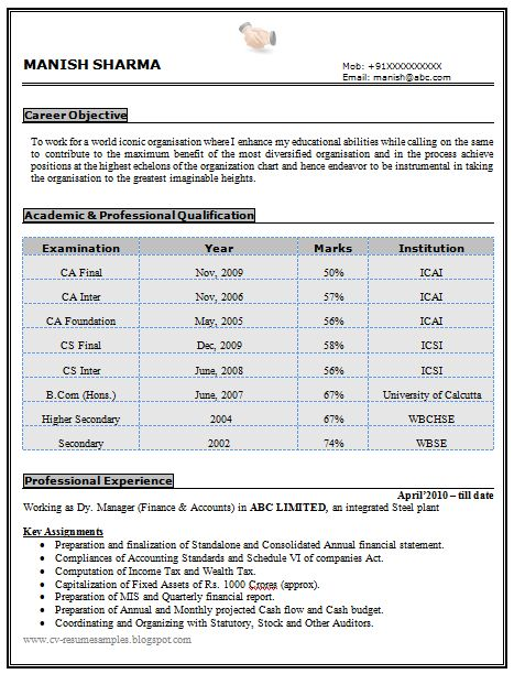 Resume Document Format  Resume Format And Resume Maker