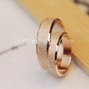 De alta calidad de acero Titanium de los anillos de bodas de oro sin brillo pareja polaca 2016 - $10.99
