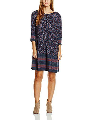 edc by ESPRIT Damen Blusen Kleid mit Muster, Midi, Gr. 38, Blau (NAVY 400) http://www.damenfashion.net/shop/edc-by-esprit-damen-blusen-kleid-mit-muster-midi-gr-38-blau-navy-400/