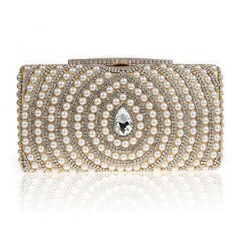 Marie Diamante All Over Strass Pochette de soirée - Noir - Silver ZW8UYnig,