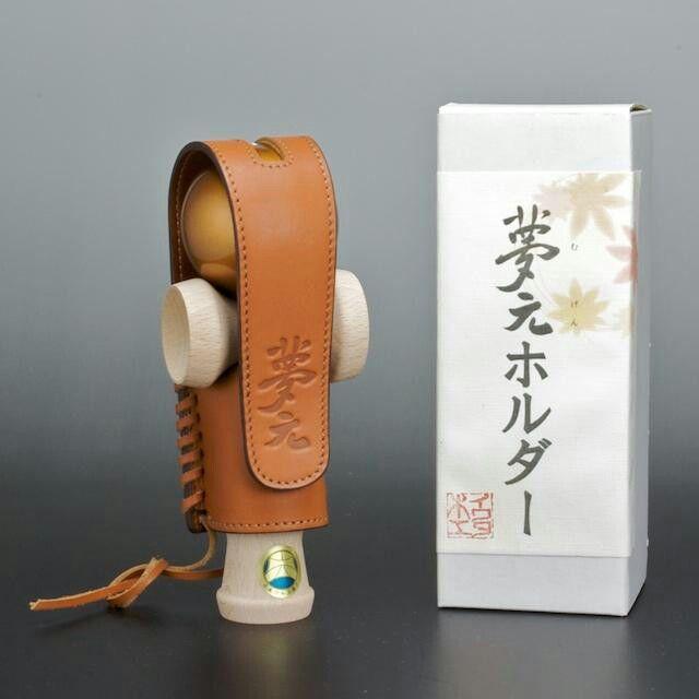 Leather kendama holster from Mugen maker Iwata Mokko