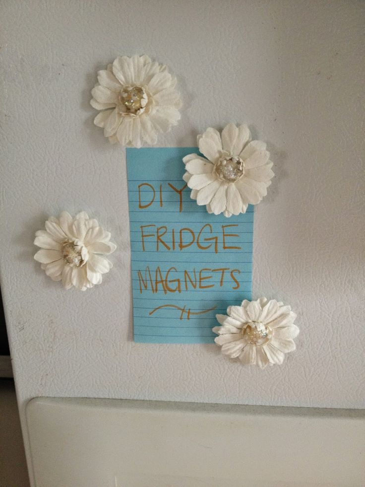 Apartment Decor: DIY Fridge Magnets