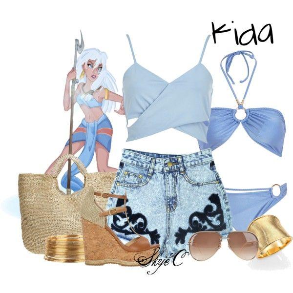 """Kida - Summer / Beach - Disney's Atlantis"" by rubytyra on Polyvore"