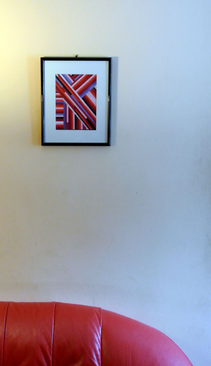Red stripes collage wallart (full tutorial on our website)