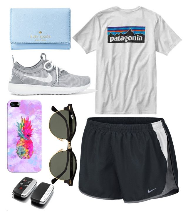 """Untitled #162"" by becker17 ❤ liked on Polyvore featuring NIKE, Patagonia, Kate Spade, Casetify and Ray-Ban"