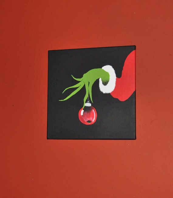 Pinterest Playroom Wall Decor : The grinch and max painting set wall art playroom by