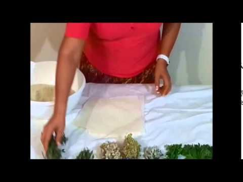 Cómo hacer pindas para masaje. - YouTube