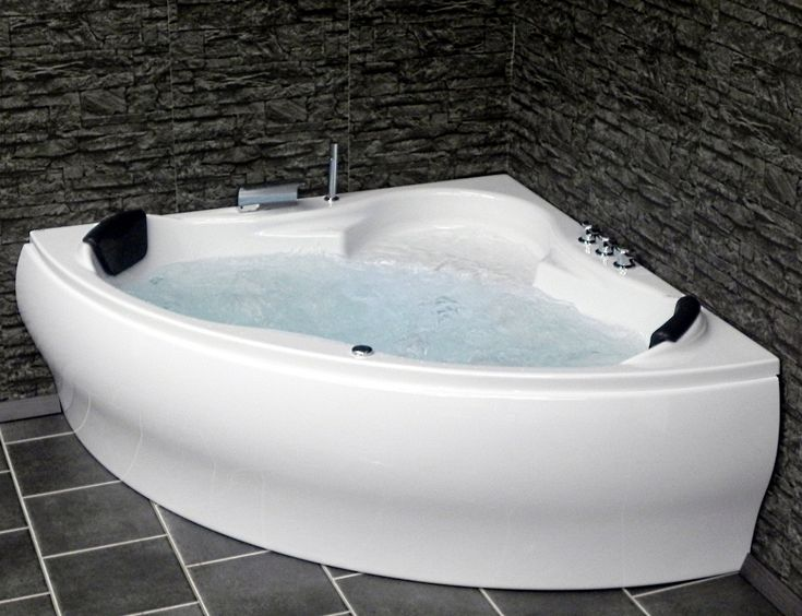 Whirlpool Badewanne Paris Eckwanne mit 8 Massage Düsen + Beleuchtung Spa für Bad innen günstig