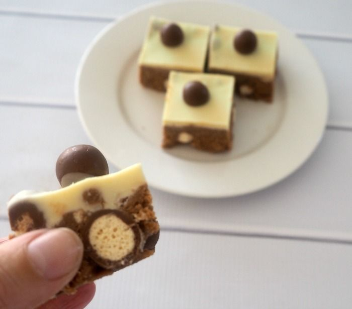 No Bake Malteser Slice