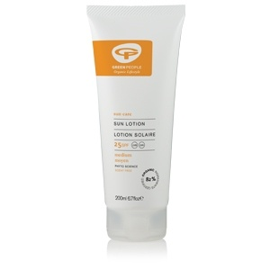 Organic and Scent Free Sun Lotion Spf25.  Paraben free!