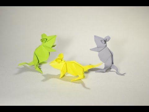 #48 origami Mouse by Kasahara Kunihiko - Yakomoga Origami tutorial - YouTube