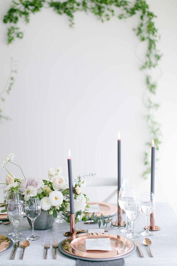 Indoor Wedding Ideas in a Smokey Grey