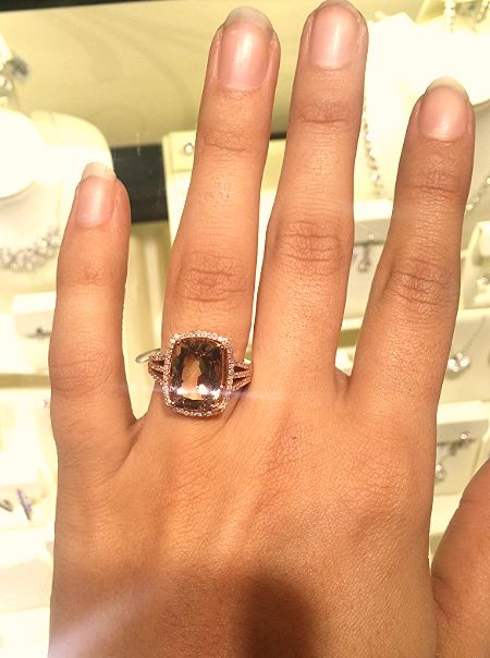 beautiful helzberg limited edition morganite ring perfect one of a kind holiday