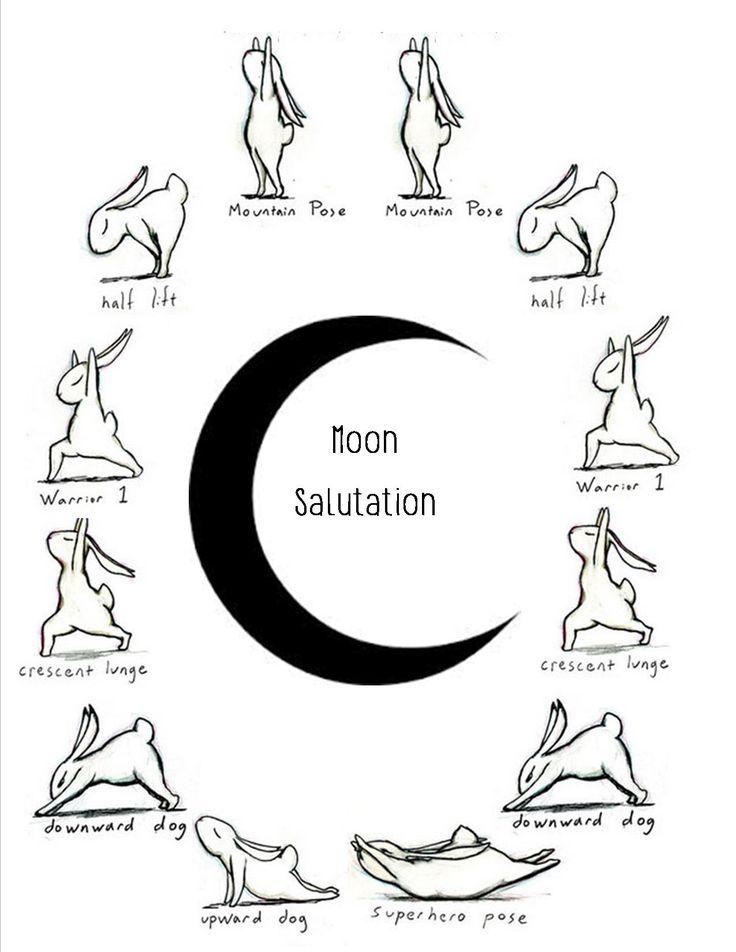 25+ best ideas about Moon salutation on Pinterest | Sun salutation ...