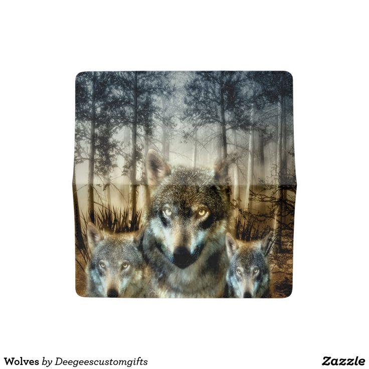 Wolf family Vinyl checkbook cover