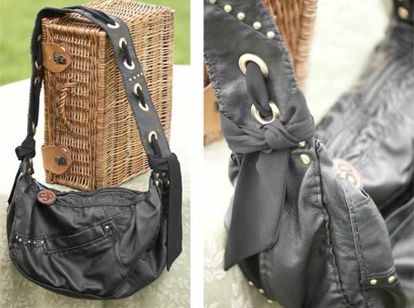 Black Leather Grommet Bag: Black Leather, Fall 2012, Grommet Bags, Colleges Fashionista, Leather Grommet