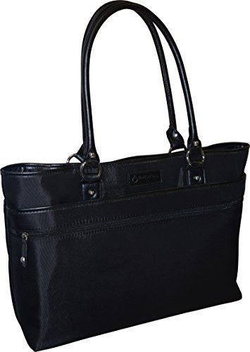 New Trending Briefcases amp; Laptop Bags: Franklin Covey Womens Business Laptop Tote Bag - Black. Franklin Covey Women's Business Laptop Tote Bag – Black  Special Offer: $36.85  199 Reviews This elegant laptop computer tote from Franklin Covey fits most laptops with up to a 15.6-inch screen. Featuring a sturdy polyester exterior and leather-like trim, this tote contains...