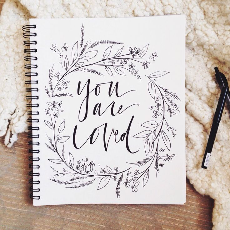 """You are Loved"" from Duende Handlettering."