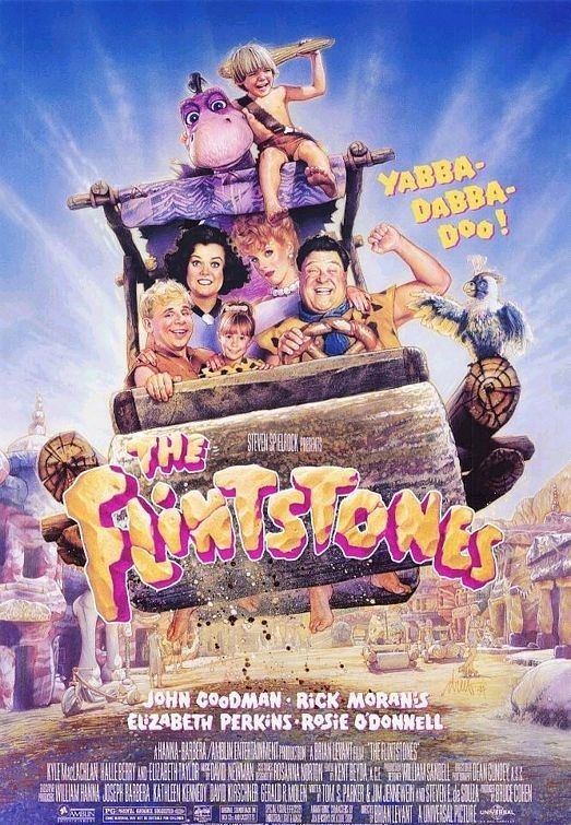 The Flintstones (1994) / 12 Awful '90s Movies Based On TV Shows ...I LOVED this movie when I was a kid, it's probably so horrible now....