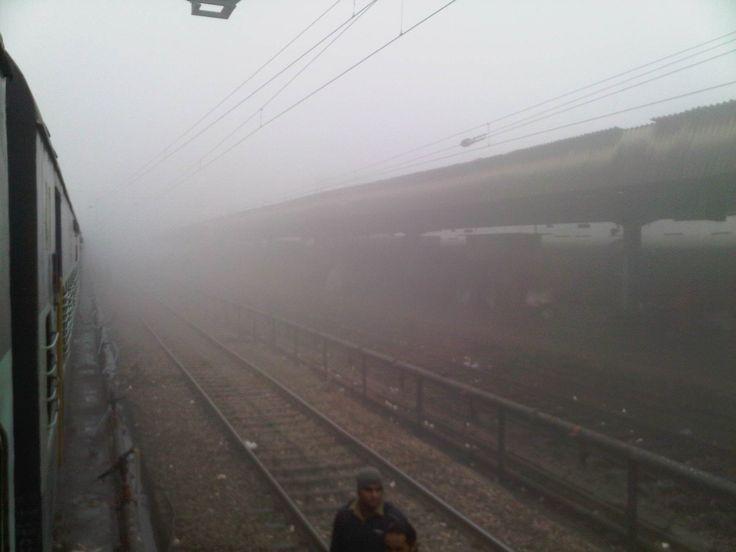 Ambala station, India in winter morning, Ambala