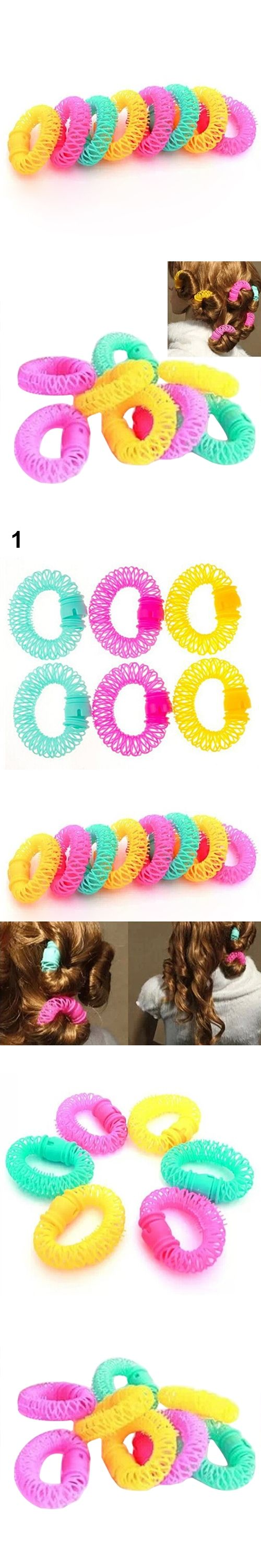 2016 6/8Pcs Convenient Hair Magic Curler Rollers Spiral Curls Hair Styling DIY Tools BGSK