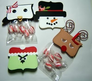 Candy bags cut with top note die