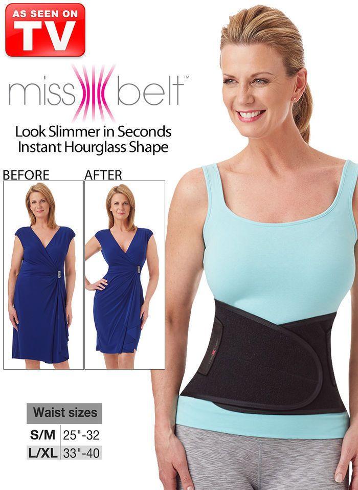 Miss Belt Hour Glass Waist Training Belt tucks belly, slims waist size L/XL  #missbelt #WRAP
