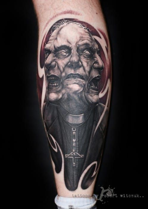 Horror tattoos can also blow your mind. By Robert Witczuk.