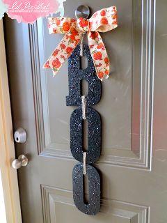 DIY BOO! door hanger! With glitter!