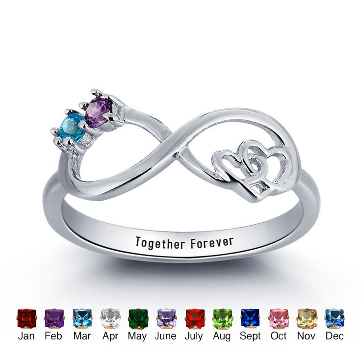 This stylish infinity ring will surely add sparkle to your lovely look and makes it a great gift of love.