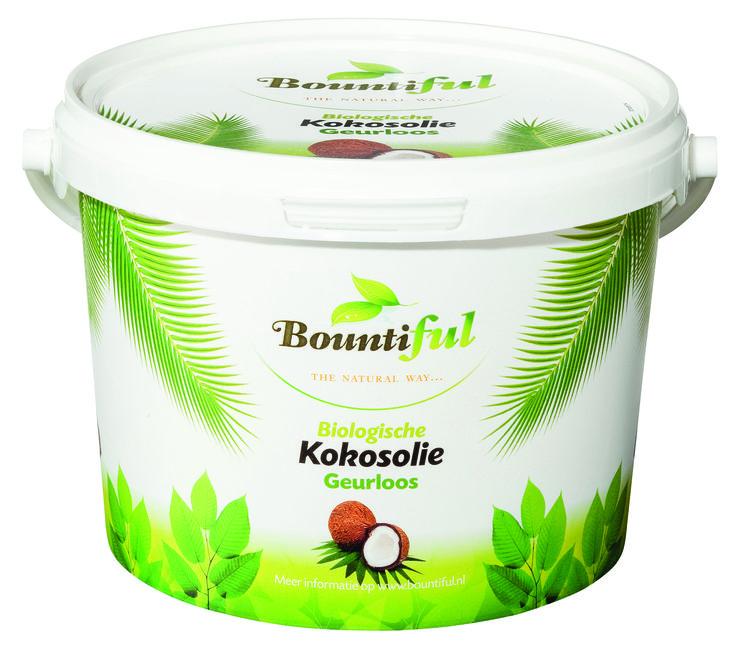Kokosolie 2 liter. Kokosolie is geschikt voor bakken, braden, wokken, frituren en ter vervanging van boter op uw boterham. Bij verhitten blijven alle goede eigenschappen van de olie behouden. Het smeltpunt ligt rond 24 a 26 graden, daarom is kokosolie meestal gestold in ons klimaat. Kokosolie bevat laurine zuur. Kokosolie kan ook gebruikt worden voor de verzorging van huid, haar en tanden.