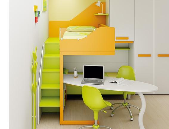 #Arredamento #Cameretta Moretti Compact: Catalogo Start Solutions 2013 >> LH36 #armadio #scrivania #scala con #cassetti http://www.moretticompact.it/start.htm
