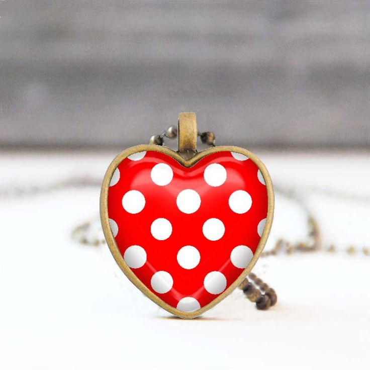 Red polka dot necklace Heart shaped pendant Glass dome necklace Picture Jewelry Valentine Gift for her Jewelry for women 20.00 USD StudioDbronze Red necklace polka dot necklace Red heart Heart shaped pendant necklace Glass dome necklace Picture Jewelry Valentine Gift Gift for her Jewelry for women Gift for women Heart jewelry 5010 #handmade #jewelry #etsy
