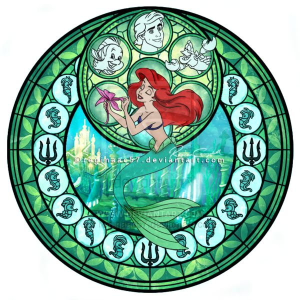 Princess Ariel - Kingdom Hearts Stain Glass Circle. Apparently I'll always be a kid at heart  :)