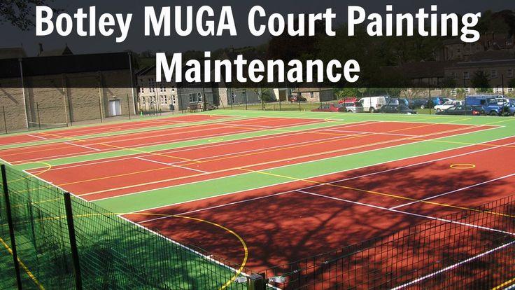 Colored Tennis Court Line Paint