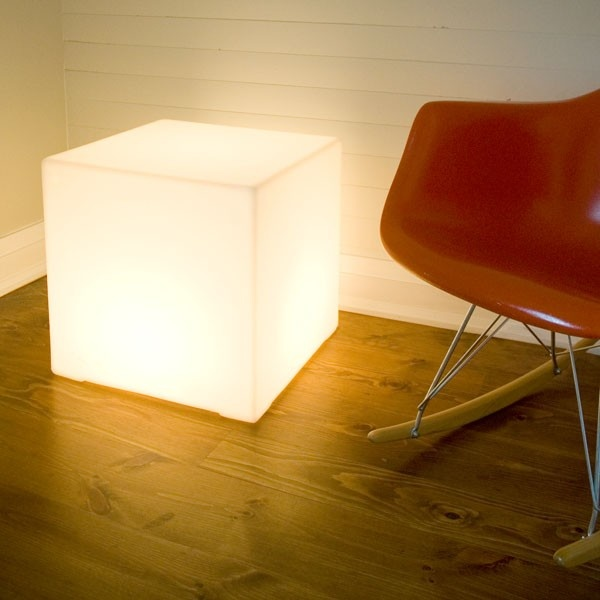 Gus Lightbox- double duty as a light and a side table