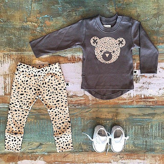 BABY • Huxbaby organic terrazzo leggings, hux bear tee & Converse infant Chuck Taylor pre walkers •    www.tinystyle.com.au