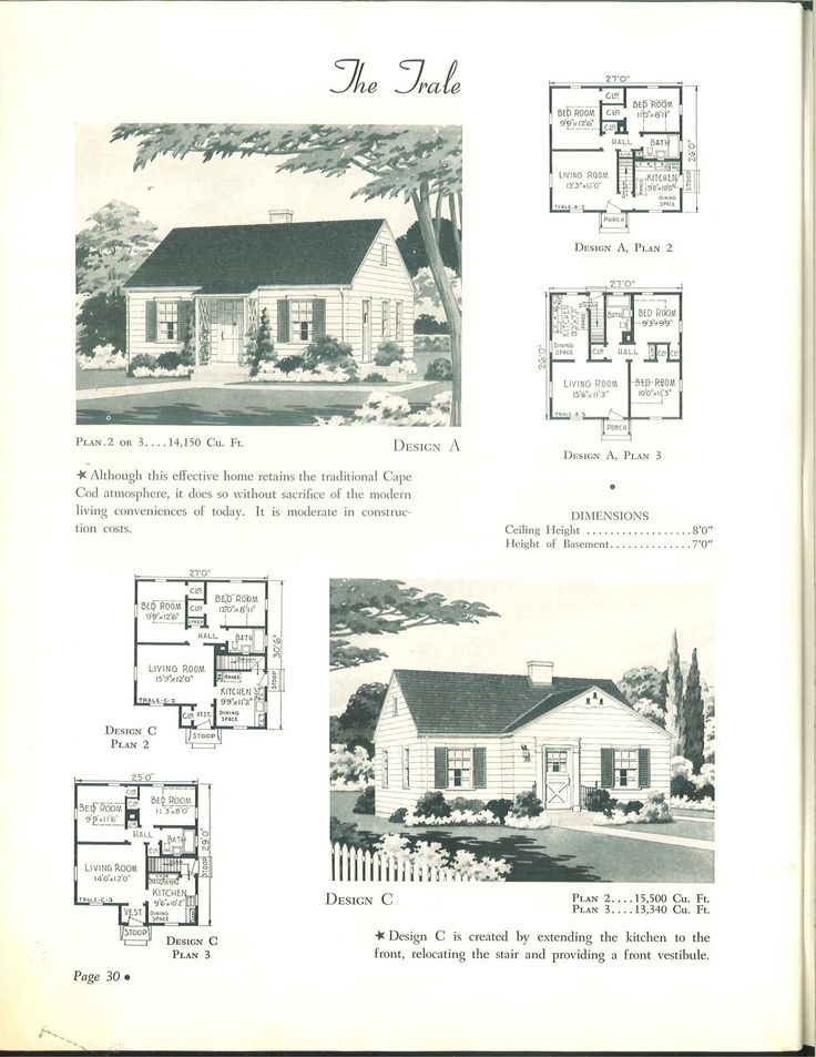 Wahlfeld 1942 vintage house plans 1940s pinterest for 1950s cape cod house plans
