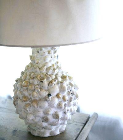 DIY - Make a Sea Shell Lamp using grout