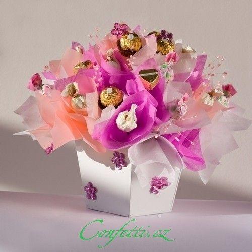 Co taková kytice z bonbonu jako dárek?