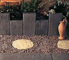 using sleepers in the garden - Google Search
