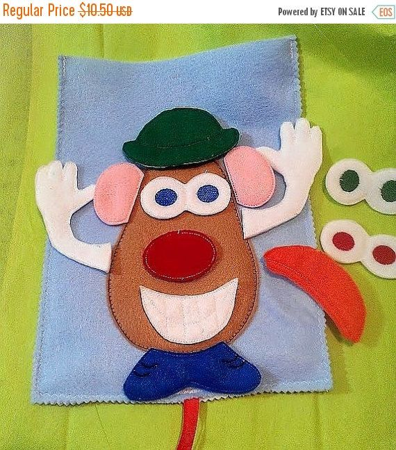 ON SALE Spud head felt mat game educational game learning toy Eco-Friendly felt game